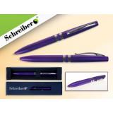 Ручка шариковая металлическая SCHREIBER, в футляре, фиолетовый корпус, синяя (24/480) (S 3514)