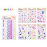 Тату стикеры MAZARI, флуоресцентные, 24.5 х 14.5 см (M-8735)