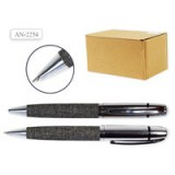 Ручка шариковая автоматическая SCHREIBER, повор. мех. металл.,пласт. футляр (AN2254) (S99052)