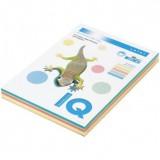 Бумага IQ COLOR A4 100л/пач 160 гр 5 цветов пастель (RB01) (110851)