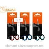 Ножницы офисные TUKZAR, 140мм, пластиковые, с резиновыми вставками (10/800) (TZ 55)
