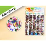 Пайетки декоративные SCHREIBER, 40шт, разноцветные, в пакетиках (S 1448)