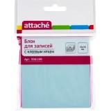 Блок бумаги для заметок ATTACHE, с липким слоем, 76х76мм/100л, голубой (1/12/216) (356199)