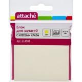 Блок бумаги для заметок ATTACHE, с липким слоем, 76х76мм/100л, желтый (1/12/216) (214303)