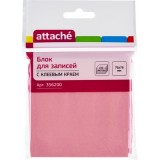 Блок бумаги для заметок ATTACHE, с липким слоем, 76х76мм/100л, розовый (1/12/216) (356200)