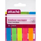 Закладки пластиковые ATTACHE, с липким слоем, 12х45мм, 5цв. по 20шт. (1/96/1152) (030951023) (144630
