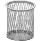 Подставка под канцелярские принадлежности ATTACHE, цилиндр, 89х100мм, металл, сетка, серебро (1/24/7