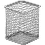 Подставка под канцелярские принадлежности ATTACHE, квадрат, 80х80мм, металл, сетка, серебро (1/24/72