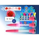 Ручка шариковая детская TUKZAR 0,7мм, со штампом, мыльными пузырями и подсветкой, синяя (24/480) (TZ 4x1)