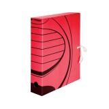 Короб архивный А4 inФОРМАТ, 75 мм, микрогофро-картон, красный (50) (RB91-75R) (069657)