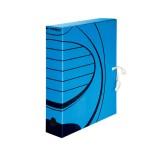 Короб архивный А4 inФОРМАТ, 75 мм, микрогофро-картон, синий (50) (RB91-75B) (069656)