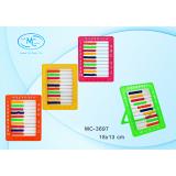 Счеты детские BASIR, 18*13 см, пластиковые, на подставке, ассорти (МС-3697)