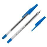 Ручка шариковая LITE 927, 0,7 мм, прозрачный корпус, синяя (1/50/1000) (BPRL01-B) (164032)