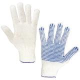 Перчатки с точкой ПВХ ЛАЙМА, плотные, белые, ГОСТ (пара) (600801)