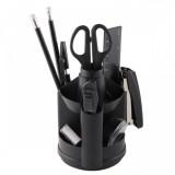 Органайзер ATTOMEX, пластиковый, 10 предметов, вращающийся, черный (4102314)
