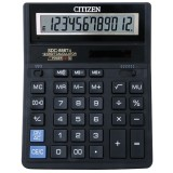 Калькулятор настольный CITIZEN SDC-888T 12-разрядный, 2 питания (1/10/40) (203,2х158х31мм) (SDC-888T