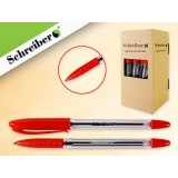 Ручка шариковая SCHREIBER, 0,7мм, красная (38/912) (S 0071)