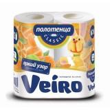 Полотенца кухонные VEIRO, 2 - слойное, 2 рул./уп (2х12,5 м) (5п22) (123212)
