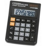 Калькулятор настольный CITIZEN SDC022S 10-разрядный, 120х87х23 (SDC022S)