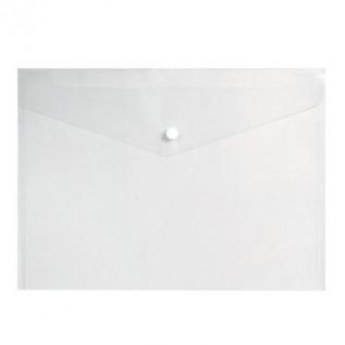 Папка-конверт на кнопке А4 inФОРМАТ, 150 мкм, пластиковая, прозрачная (10/100) (PK8015) (035267)