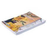 Обложки для переплета А3 РЕАЛИСТ, 230г/м2, белые, картонные, кожа (ЦЕНА ЗА 100 ШТ) (3889)
