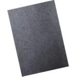 Обложки для переплета А4 РЕАЛИСТ, 230г/м2, черные, картонные, кожа (ЦЕНА ЗА 100 ШТ) (3921)