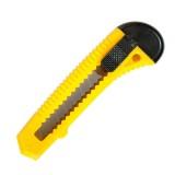 Нож канцелярский inФОРМАТ, 18мм, комбинированный, фиксатор желтый  (24/480) (CP1801) (053823)