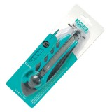 Нож канцелярский STANGER, 18мм, усиленный, комбинированный, фиксатор зеленый  (12/144) (50091) (0538