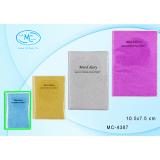 Блокнот BASIR, 70л, 10,5*7,5 см, клетка, обл -алмазн крошка цветная, с полиэт. обл (1/120) (МС-4387)