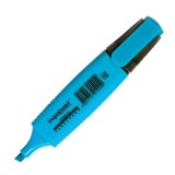 Маркер текстовый inФОРМАТ, 1-4мм, голубой, скошенный (12/144/576) (FMSH01B) (056789)