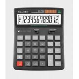 Калькулятор настольный SKAINER SK-700L, 12 разрядный., пластик, 155x201x35мм, черный (10/40) (SK-700