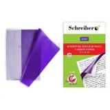 Бумага копировальная SCHREIBER, 100 листов, фиолетовая (S 280)