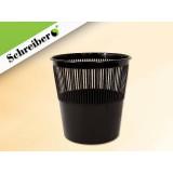 Корзина для бумаг SCHREIBER пластиковая,12л., цвет  черный (S 99302)