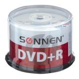 Диск DVD+R + SONNEN, 16x 4.7 GB 50 шт. (512577)