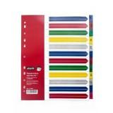 Разделитель А4+ ATTACHE SELECTION, 1-12 листов, цифровой, цветной пластик (474680)