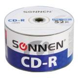 Диск CD-R SONNEN, 700 МВ, 52x Bulk 50 (цена за50 шт.) (512571)
