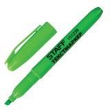 Маркер текстовый STAFF, 1--3мм, скошенный, зеленый (151239)