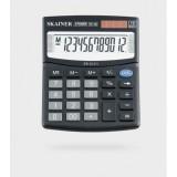 Калькулятор настольный SKAINER SK-312II, 12 разрядный., пластик, 100x124x32мм, черный (50/100) (SK-3