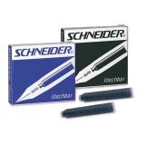 Чернильный патрон для перьевых ручек SCHNEIDER,черный, 6 шт/уп (ЦЕНА ЗА 6ШТ.) (50/600) (6601)
