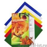 Обложки для переплета А4 РЕАЛИСТ, 0,18мм, кристалл,  прозрачные/зеленые, ПВХ (ЦЕНА ЗА 100 ШТ) (4395)