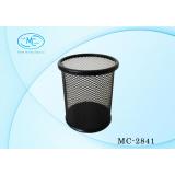 Подставка под канцелярские принадлежности BASIR, цилиндр, 100х80мм, металл, сетка, черная (96) (МС-2