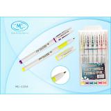 Набор гелевых ручек BASIR, 0,5 мм, белый корпус, 6 цветов (10/144) (МС-119-6)
