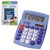 Калькулятор настольный CITIZEN SDC-450NBLCFS 8-разрядный, 120х87х22, синий (450NBLCFS)