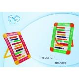 Счеты детские BASIR, 26*18 см, пластиковые, на подставке, ассорти (МС-3699)