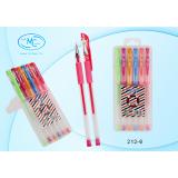 Набор гелевых ручек BASIR, флуоресцентные, 6 цветов (6/320) (212-6)