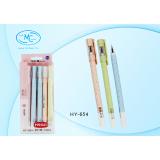 Ручка гелевая BASIR, 0,35 мм, цветной матовый корпус, синяя (12/864) (HY-654)