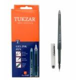 Ручка гелевая TUKZAR, 0,5 мм, в форме пера, синяя (12/144/432) (TZ 5242-син.)