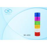 Лента клейкая BASIR, голографическая, цветная, ассорти, 3 м*1,2 см (Цена за 12 штук) (12/200) (МС-42