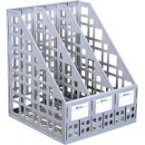 Лоток вертикальный СТАММ, пластиковый, сборный на 3 отд., серый (8) (ЛТ80)