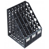 Лоток вертикальный СТАММ, пластиковый, сборный на 6 отд., черный (12) (ЛТ87) (235653)
